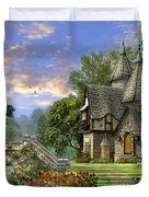 Old Waterway Cottage Duvet Cover