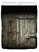 Old Weathered Barn Door Duvet Cover