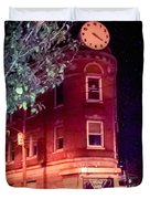 Old Wedge Bank  Building  Haunted Alton Ill Duvet Cover