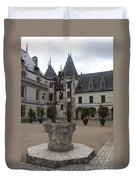 Old Well And Courtyard Chateau Chaumont Duvet Cover