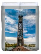 Old Welland Lift Bridge  Duvet Cover