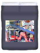 Old West Fire Wagon V2 Duvet Cover