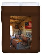 Old West School House Duvet Cover