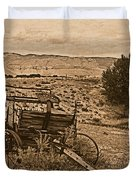 Old West Wagon Duvet Cover