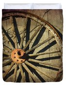 Old West Wagon Wheel Duvet Cover