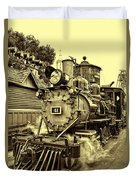Old Western Railroad Duvet Cover