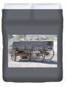 Old Western Wagon Duvet Cover
