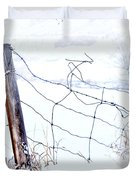 Old Wire Fence Duvet Cover