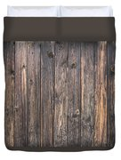 Old Wood Shack Exterior Background Duvet Cover