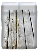 Old Wood Texture Duvet Cover