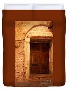 Old Wooden Doors Duvet Cover