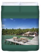 Old Wooden Pier Of Koh Rong Island In Cambodia Duvet Cover
