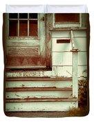Old Wooden Porch Duvet Cover