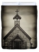 Old Wooden Sanctuary Duvet Cover