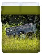 Old Wooden Wagon Duvet Cover