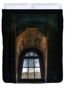 Old Wooden Window Duvet Cover