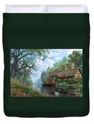 Old Woodland Cottage Duvet Cover