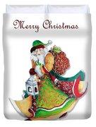 Old World Santa Christmas Art Original Painting By Megan Duncanson Duvet Cover