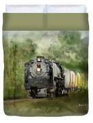 Old World Steam Engine Duvet Cover