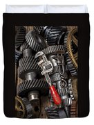 Old Wrenches On Gears Duvet Cover