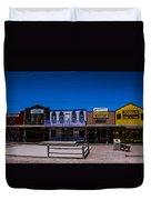 Olde Strip Mall Duvet Cover