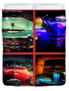 Oldtimer Collage Duvet Cover