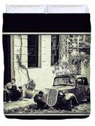 Oldtimer Ladies Retro Duvet Cover