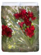 Oleander Blooms - A Touch Of Red Duvet Cover