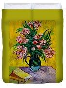 Oleanders Duvet Cover by Karon Melillo DeVega