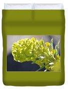 Olive Fluorescence Duvet Cover