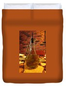 Olive Oil On Table Duvet Cover