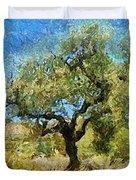 Olive Tree On Van Gogh Manner Duvet Cover