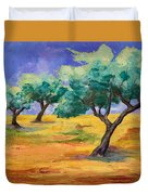 Olive Trees Grove Duvet Cover