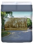 Oliver C. Brownell House On The Commons In Little Compton Rhode Island Duvet Cover