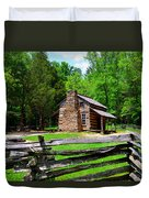 Oliver Cabin 1820s Duvet Cover by David Lee Thompson