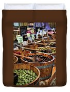 Olives Duvet Cover by Heather Applegate