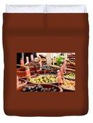 Olives In Barrels Duvet Cover