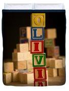 Olivia - Alphabet Blocks Duvet Cover