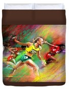 Olympics 100 Metres Hurdles Sally Pearson Duvet Cover