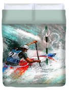 Olympics Canoe Slalom 02 Duvet Cover by Miki De Goodaboom