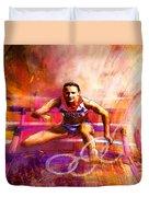 Olympics Heptathlon Hurdles 02 Duvet Cover