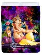Om Shanti Ganesh Duvet Cover