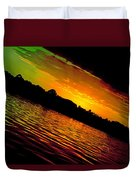 Ominous Sunset Duvet Cover