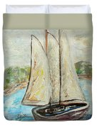 On A Cloudy Day - Impressionist Art Duvet Cover