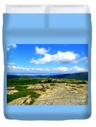 On A Mountain In Maine Duvet Cover