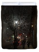 On A Walk In The Snow - Grants Pass Duvet Cover