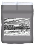 On A Winters Day Duvet Cover