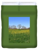 On Golden Field Duvet Cover