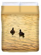 On Golden Pond Ducks Duvet Cover