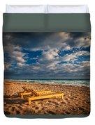 On Golden Sands Duvet Cover